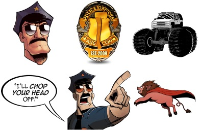 Axe Cop Icons