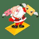 Santa mails icon
