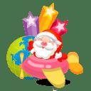 Santa plane icon