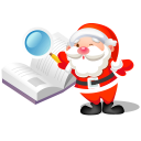 santa search book icon