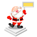 santa sign icon
