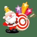 Santa stars icon