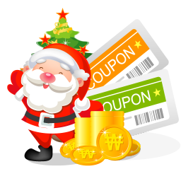 christmas coupons icon