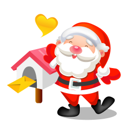 santa mail icon