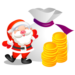 santa money icon