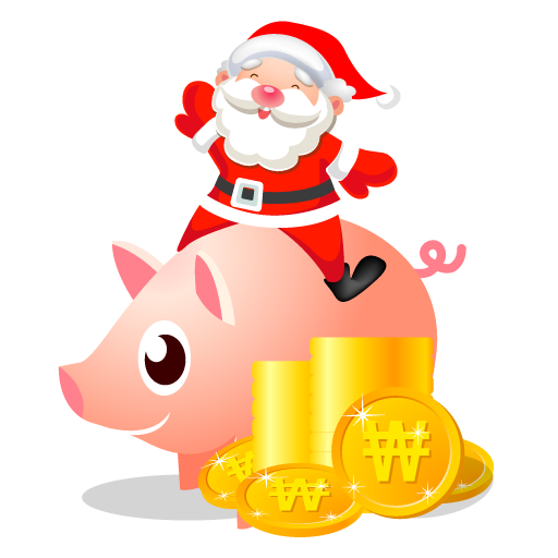Santa-piggy-bank icon