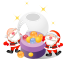 santa christmas balls icon