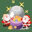 santa christmas balls icon