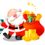 santa gifts bag icon