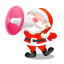 santa shouting megaphone icon