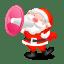 santa shouting megaphone icon