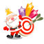 santa stars icon