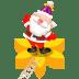 Santa-flower icon