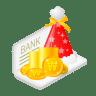 Christmas-bank-money icon