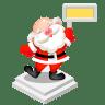 Santa-sign icon