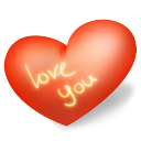 Heart love you icon