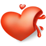 Heart-blood icon