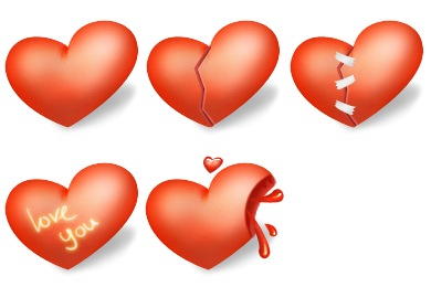 Heart Valentines Day Icons