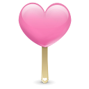 ice cream heart icon