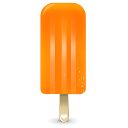 ice cream orange icon