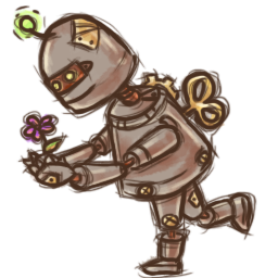 Steampunk Robot icon