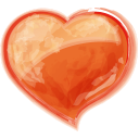 Heart-orange icon