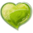Heart green icon