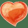 Heart-orange icon