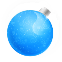 Christmas ball blue icon
