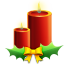 Candles with ribbon icon