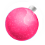 Christmas ball pink icon