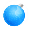 Christmas-ball-blue icon