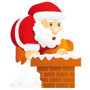 santa chimney icon