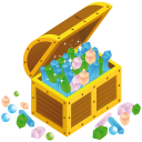 Treasure chest open icon