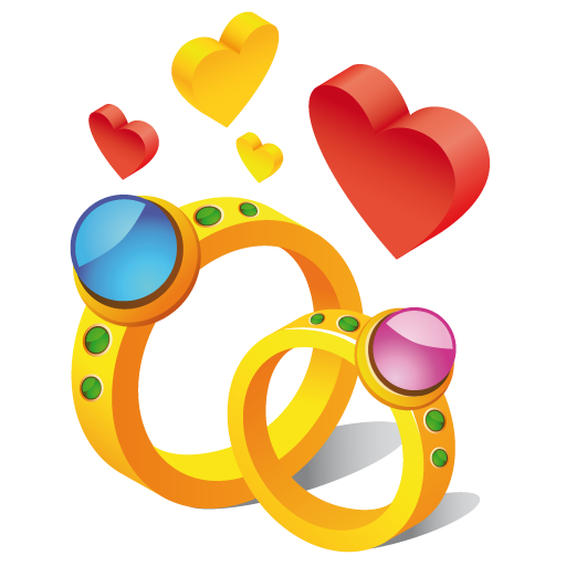 Ring-hearts icon