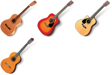 Acoustic Guitars Icons