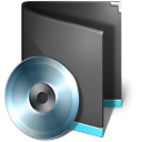 Folder Music Black icon