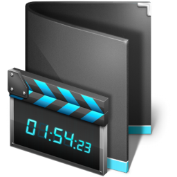 Movie Folder Black icon