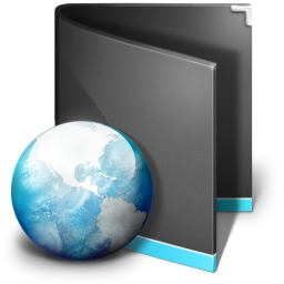 Net Folder Black icon