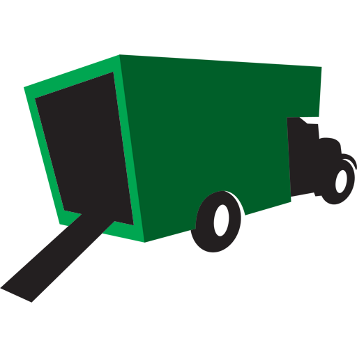 Truck green icon