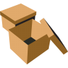 Boxes-brown icon