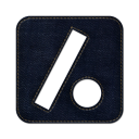 slash dot square icon