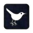 Twitter bird3 square icon