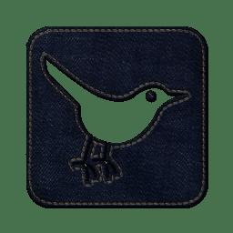 Twitter bird3 square icon