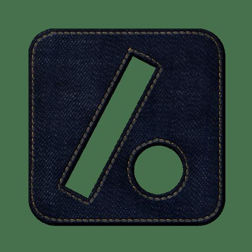 Slash-dot-square icon