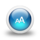 glossy 3d blue fontsize icon