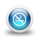 Glossy 3d blue non smoking icon