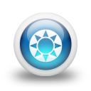 Glossy 3d blue orbs2 097 icon