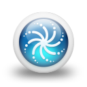glossy 3d blue orbs2 110 icon