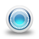 glossy 3d blue orbs2 113 icon